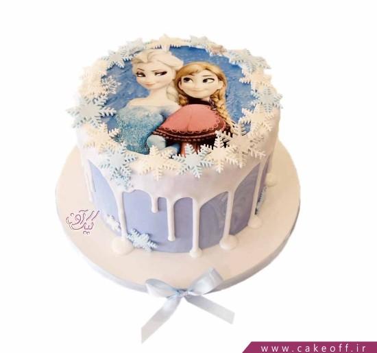 کیک السا چکه ای