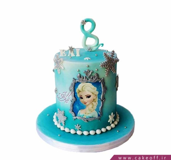 کیک دخترانه السا ملکه یخ ها