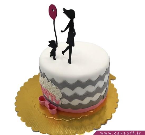 کیک تولد نوزاد - کیک جشن اولین قدم - کیک با کودکم | کیک آف