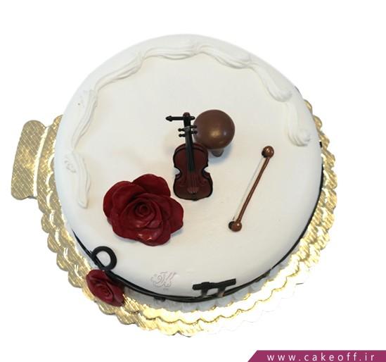 کیک تولد موسیقی - کیک به یاد صبا | کیک آف