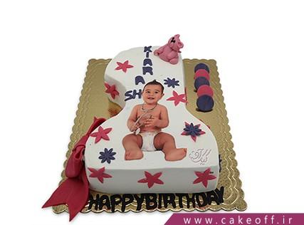 کیک تولد یکسالگی - کیک بچه گانه تولدم مبارک | کیک آف