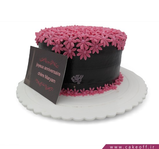 کیک تولد زیبا - کیک شکلاتی باغ فوندانت | کیک آف
