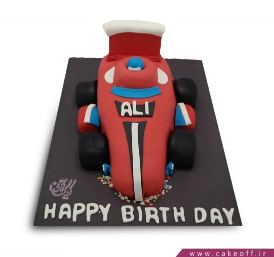 کیک تولد پسرانه - کیک ماشین مسابقه ای قرمز | کیک آف