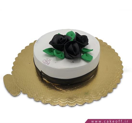 انواع کیک تولد - کیک رز مشکی | کیک آف