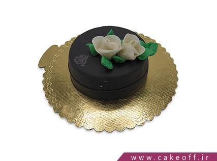 انواع کیک تولد - کیک مشکی گلدار | کیک آف