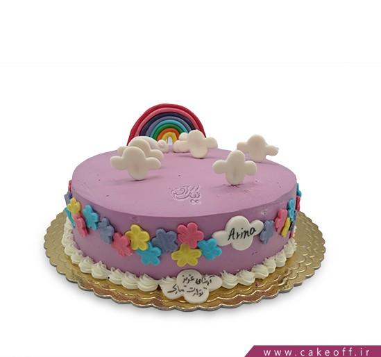 کیک رنگین کمان و ابر