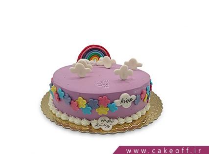 کیک تولد بچه گانه - کیک رنگین کمان و ابر | کیک آف