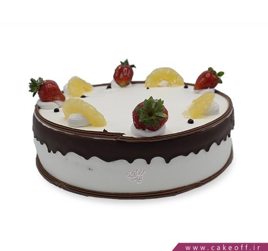 کیک میوه ای - کیک توت فرنگی آناناسی | کیک آف