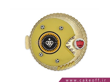 کیک فوتبالی - کیک پنج قهرمانی سپاهان | کیک آف
