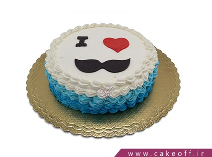 کیک سبیل - کیک مرد دوست داشتنی | کیک آف