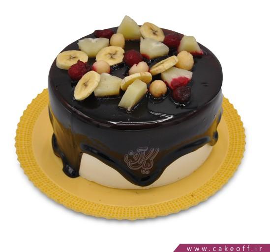 کیک چکه ای میوه باران