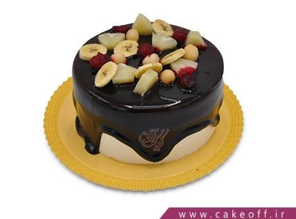 کیک میوه ای - کیک چکه ای میوه باران | کیک آف