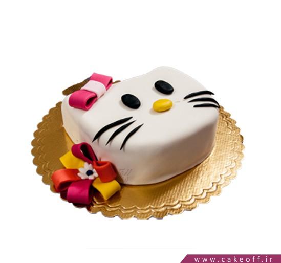 کیک تولد دخترانه - کیک کیتی پاپیون قرمز | کیک آف