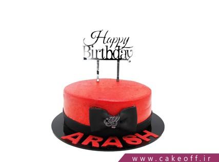 کیک تولد خاص - کیک قرمز پاپیونی | کیک آف