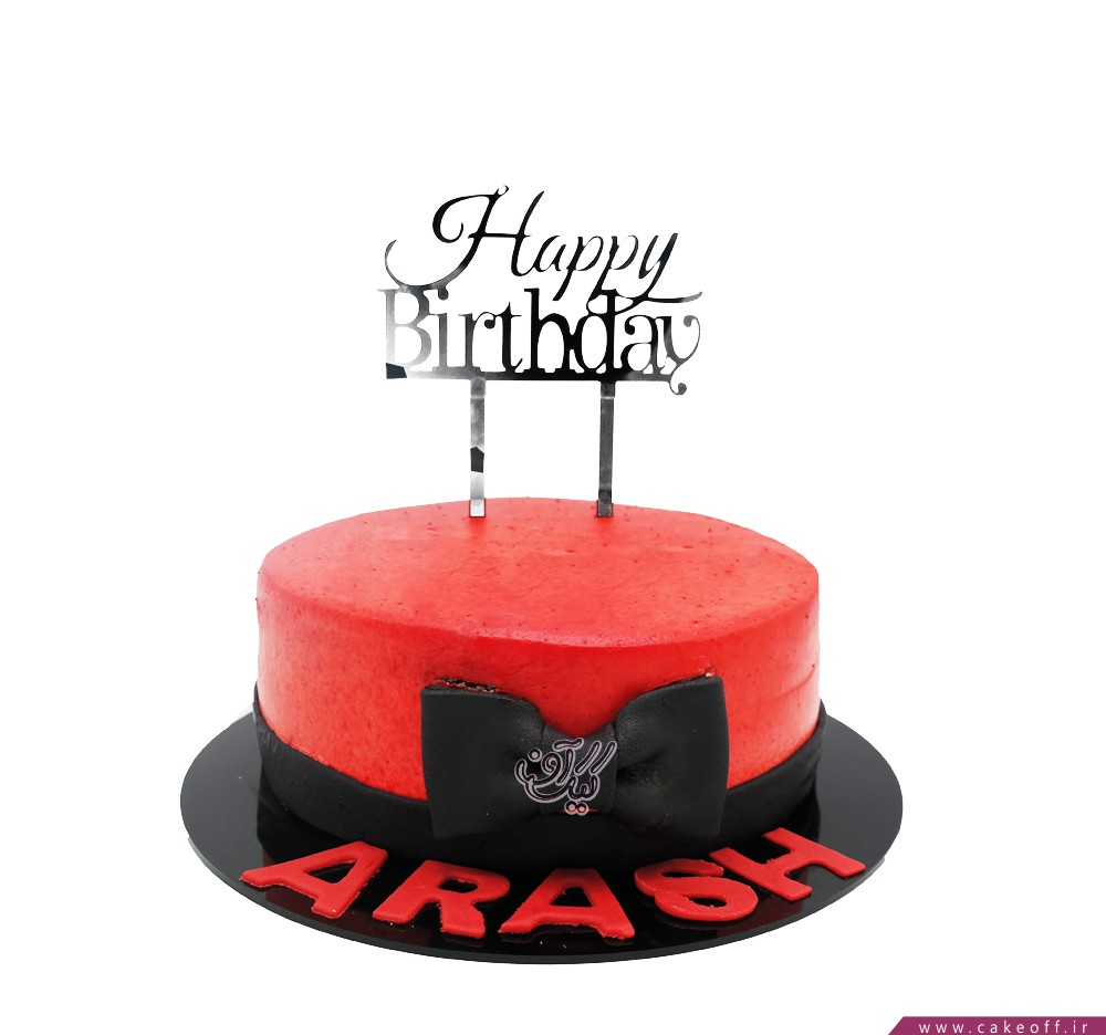 کیک قرمز پاپیونی
