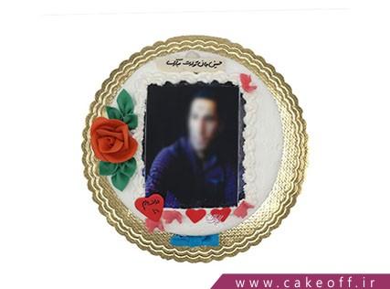 چاپ عکس روی کیک - کیک تصویری قلب و پروانه | کیک آف