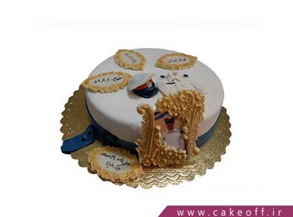 کیک فوندانتی - کیک پایان خدمت | کیک آف