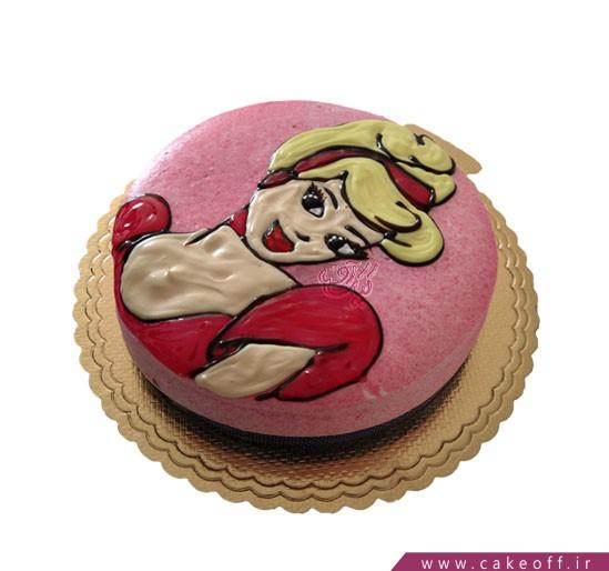 کیک با تم سیندرلا - کیک سیندرلا خانم | کیک آف