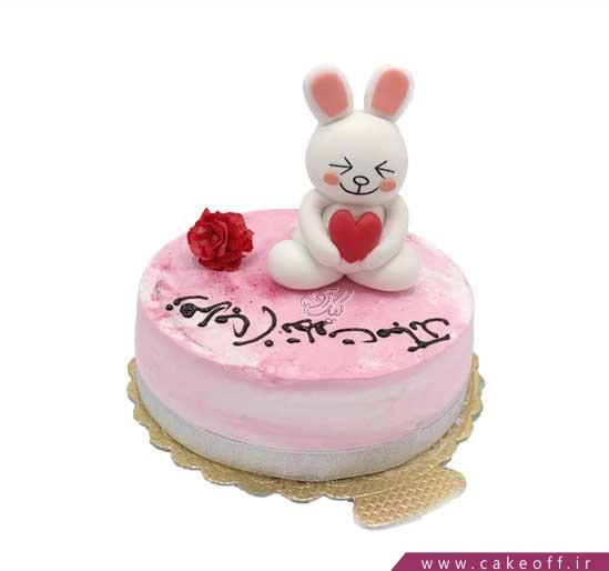 کیک تولد تک خرگوش   کیک آف