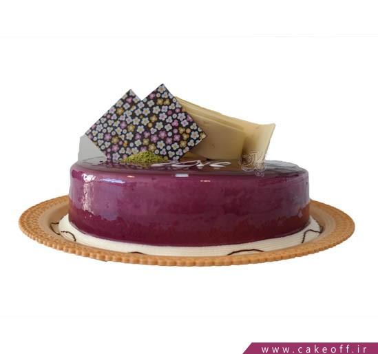 انواع کیک تولد - کیک تولد عاشقانه - کیک کاشی گلدار | کیک آف