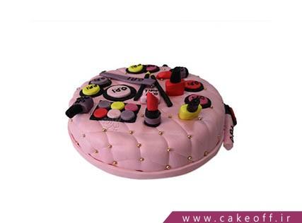 کیک تولد دخترانه - کیک لوازم آرایش 26 | کیک آف