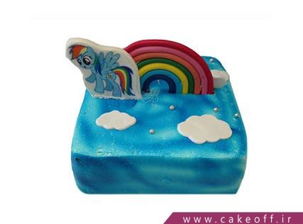 کیک دخترانه - کیک یونیکو بر فراز رنگین کمان | کیک آف