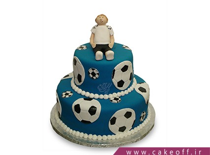 کیک استقلال - کیک توپ های آبی نشان | کیک آف