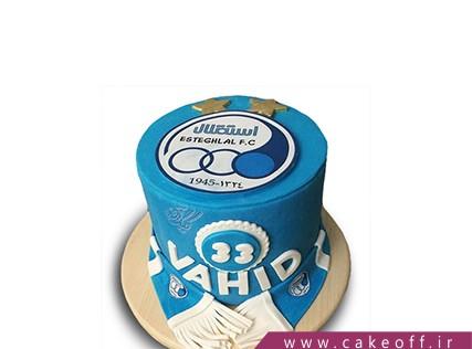 کیک تولد استقلالی - کیک آبی هیمشه سرور | کیک آف