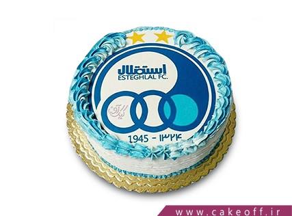 کیک استقلالی - کیک سرور آبی | کیک آف