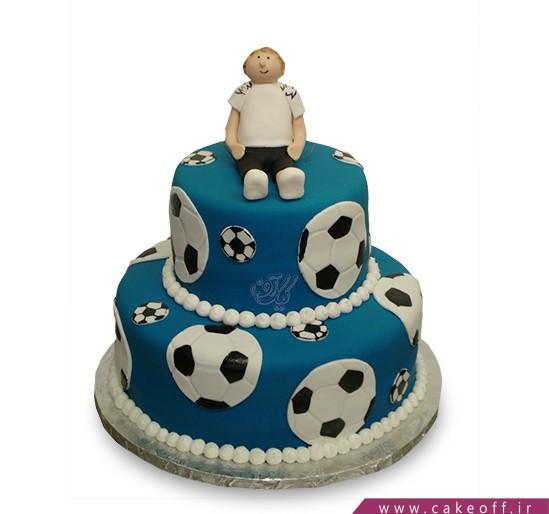 کیک توپ های آبی نشان