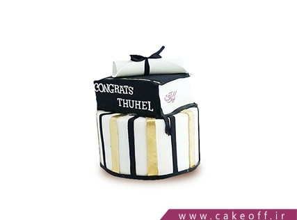 کیک جشن فارغ التحصیلی - کیک درس آخر | کیک آف