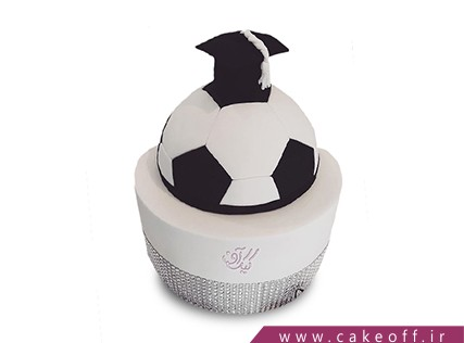 کیک جشن فارغ التحصیلی - کیک خداحافظ مدرسه فوتبال | کیک آف