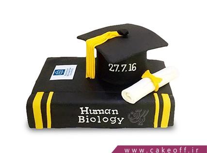 کیک فارغ التحصیلی - کیک دلم برات تنگ میشه درس | کیک آف