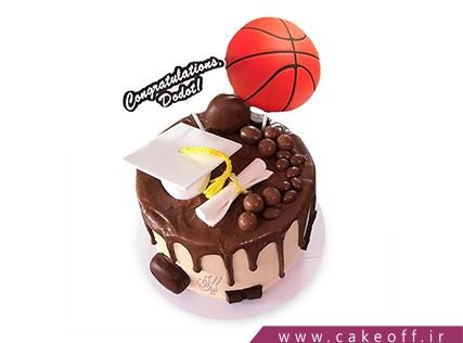 کیک فارغ التحصیلی - کیک سلام بسکتبال | کیک آف