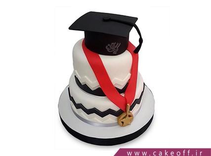 کیک فارغ التحصیلی - کیک استاد،حلال کن | کیک آف