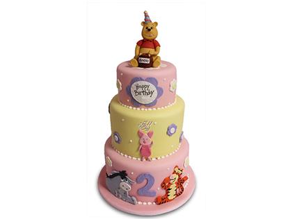 کیک تولد بچه گانه تولد پو | کیک آف