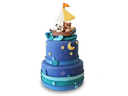 کیک تولد بچه گانه سفر در شب | کیک آف