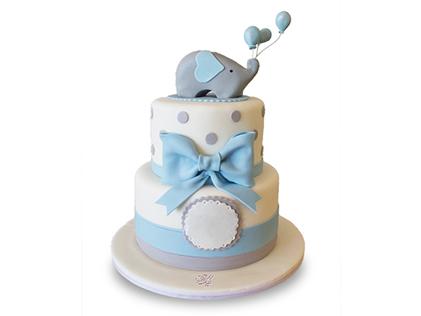 کیک تولد بچه گانه فیل بازیگوش | کیک آف