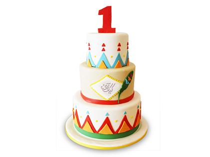 کیک تولد یکسالگی سرخپوستان کوهستان | کیک آف