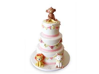 کیک تولد حیوانات بازیگوش | کیک آف