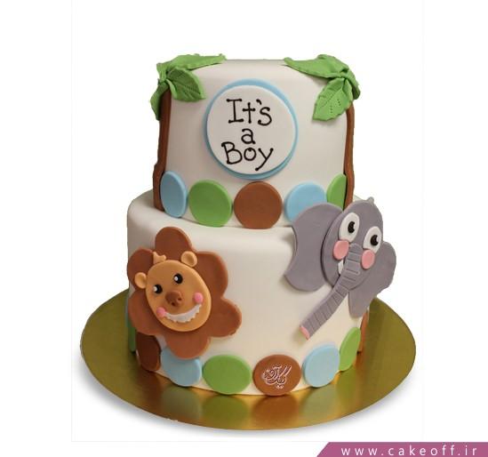 کیک فوندانتی حیوانات جنگل