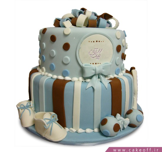 کیک تولد نوزاد روز اول