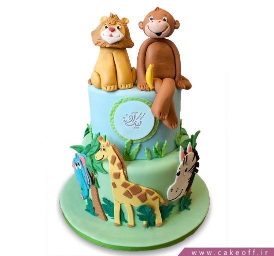 کیک تولد بچه گانه میمونی و دوستان | کیک آف