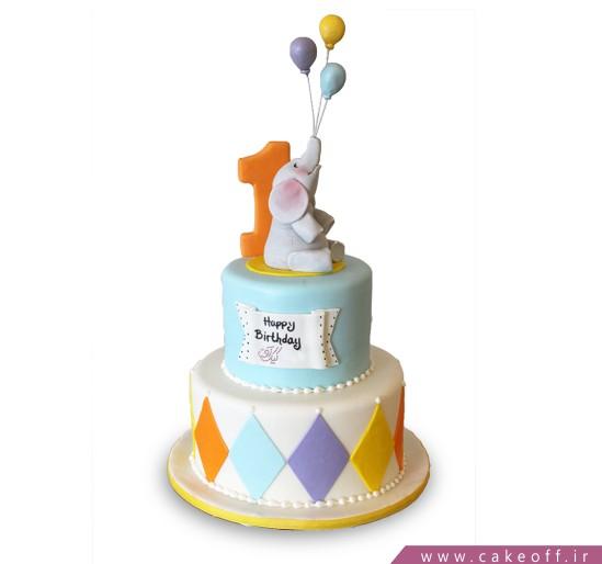 کیک تولد بچه گانه آرزو های فیل کوچولو