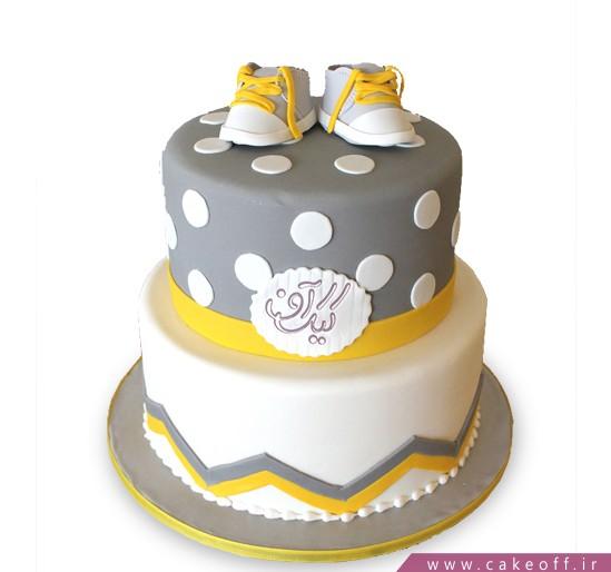 کیک تولد نوزاد قدم اول | کیک آف