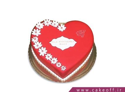 کیک عاشقانه قلب شکوفه ای | کیک آف