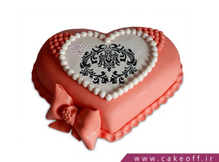 کیک عاشقانه گلژین | کیک آف