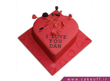 کیک عاشقانه - کیک ولنتاین آزاد،در بند تو | کیک آف