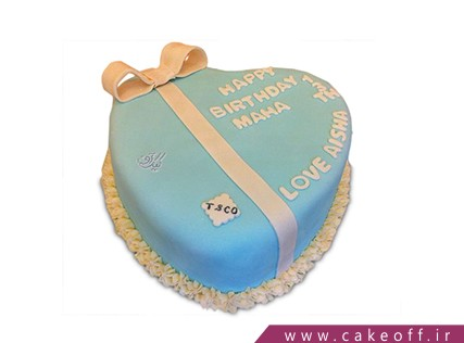 کیک سالگرد ازدواج قلب یخی | کیک آف