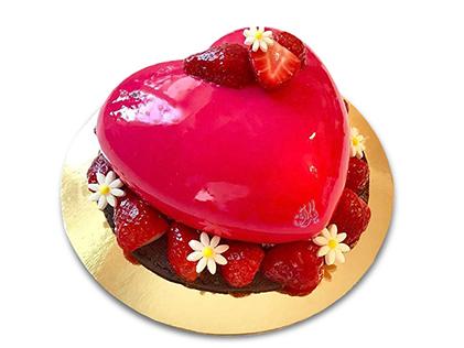 کیک سالگرد ازدواج - کیک عاشقانه قلب قرمز ژله ای | کیک آف